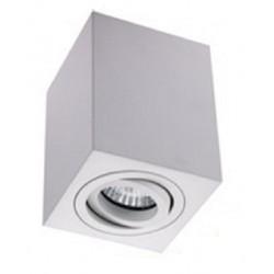 Foco superficie cuadrado orientable Blanco para Lámpara GU10/MR16