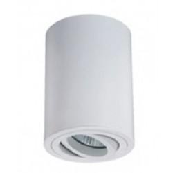 Foco superficie redondo orientable Blanco para Lámpara GU10/MR16