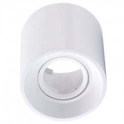 Foco superficie redondo orientable Blanco para Lámpara GU10/MR16 ECO