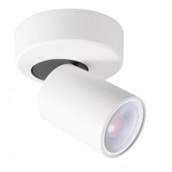 Foco superficie base redonda basculante y orientable Blanco para 1 Lámpara GU10