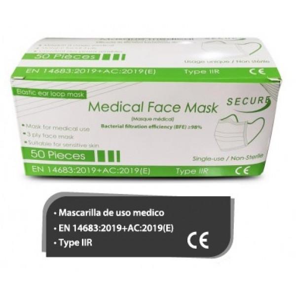 Mascarilla quirúrgica 3 capas Tipo IIR (caja 50 unidades)