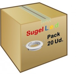 Foco Basculante empotrar Blanco, para Lámpara GU10/MR16, Caja 20ud a 1,90€/ud