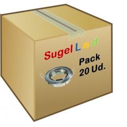 Foco basculante empotrar Plata, para Lámpara GU10/MR16, Caja 20ud a 2,20€/ud