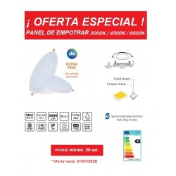 Downlight panel LED Redondo 225mm 20W serie ECO -OFERTA- a 2,99€ ud.