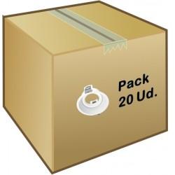 Foco empotrar Konica 84mm, para Lámpara GU10/MR16 Blanco ó Negro en caja de 20 ud a 2,95€/ud