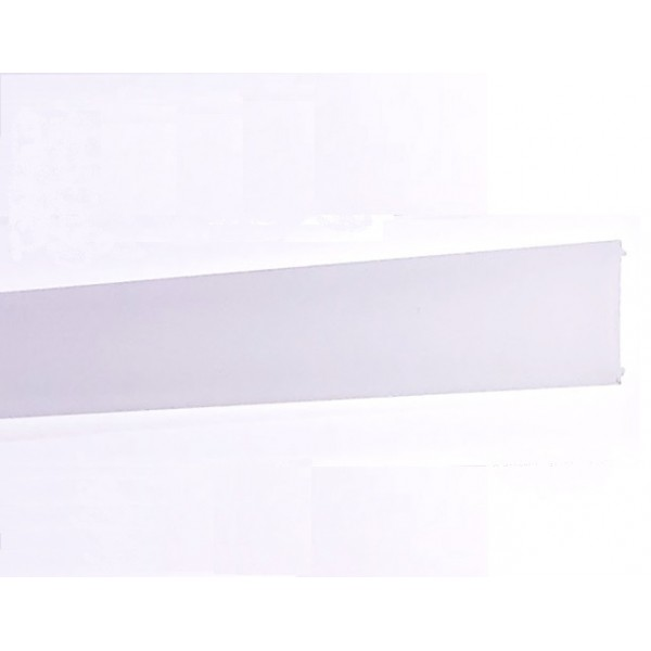 Difusor Glaseado para perfil aluminio anodizado Certificado, DG66, tira 6 mts.