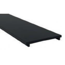 Difusor Negro para perfil aluminio anodizado Certificado, DN6, tira 2 mts.