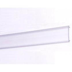 Difusor Transparente para perfil aluminio anodizado Certificado, DT5, tira 2 mts.