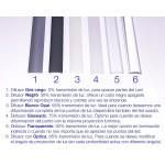 Difusor Negro para perfil aluminio anodizado Certificado, DN5, tira 6 mts.