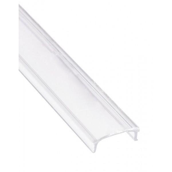 Difusor Transparente para perfil PS1708, PE2308, PS1715, PE2315, PA1818, PR2117, PSC1531, barra 2 mts.