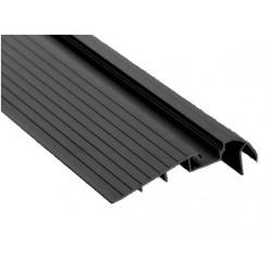 Perfil escalera aluminio anodizado 105,6x28,4mm para tiras LED, barra 2 Metros, (a 14€/mt.)