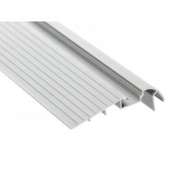Perfil escalera aluminio anodizado 105,6x28,4mm para tiras LED, barra 2 Metros, (a 11€/mt.)