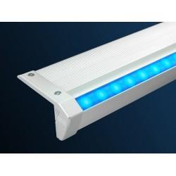 Perfil escalera aluminio anodizado 53,5x20,5mm para tiras LED, barra 2,40 Metros, (a 18,42€/mt.)