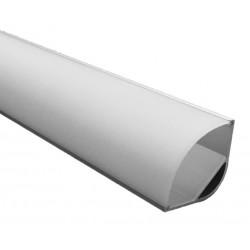 Perfil Aluminio Angulo 30x30mm. para tiras LED de hasta 19mm, barra 2 Metros