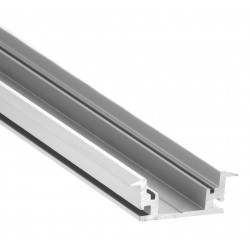 Perfil empotrar suelo pisable aluminio anodizado 26,7x11mm para tiras LED, barra 2 Metros