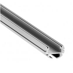 Perfil Redondo aluminio anodizado INOX 19mm para tiras LED, barra 2 Metros