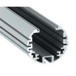 Perfil Redondo aluminio anodizado 39x39mm para tiras LED, barra 2 Metros