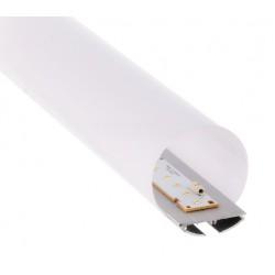 Perfil Aluminio anodizado para difusor Redondo 60mm. para tiras LED, barra 3 Metros