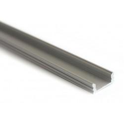 Perfil Aluminio Superficie 14,5x7mm. para tiras LED, barra 2 metros