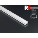 Perfil Aluminio Superficie 14,5x7mm. para tiras LED, barra 2 metros