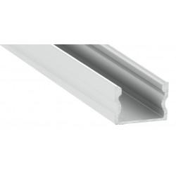Perfil Aluminio Superficie 17x15mm. para tiras LED, barra de 2 Metros
