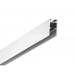 Perfil Aluminio anodizado Superficie Colgar 15x31mm. para tiras LED, barra 2 Metros