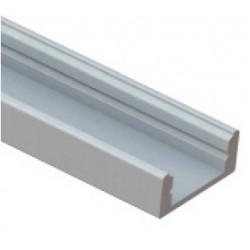 Perfil Aluminio Superficie LINE 17,5x7mm. para tiras LED, barra de 2 Metros