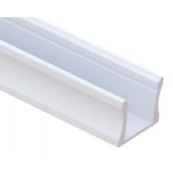 Perfil Aluminio Superficie Blanco LINE 17,5x14mm. para tiras LED, barra de 2 Metros