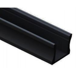 Perfil Aluminio Superficie Negro LINE 17,5x14mm. para tiras LED, barra de 2 Metros