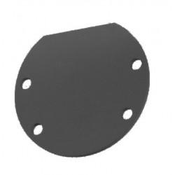 Tapa Final Negra Aluminio para perfil redondo anodizado PR3939A