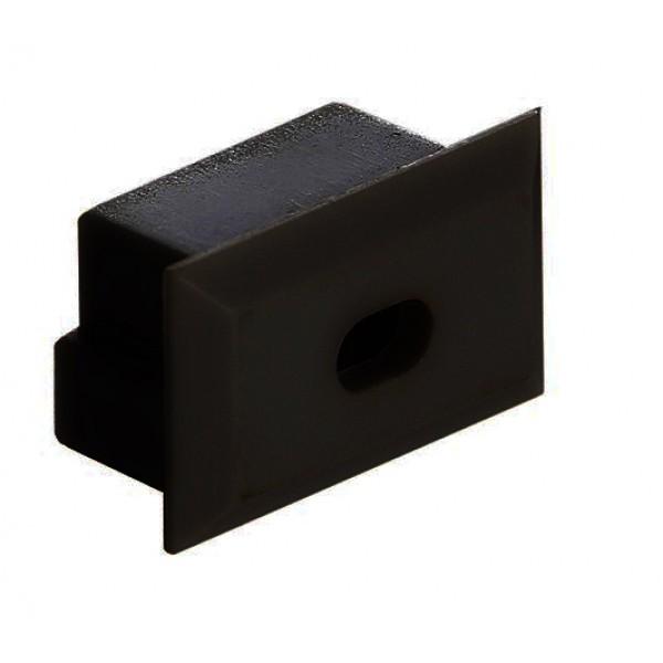 Tapa Final Negra salida cable para perfil anodizado PS2011AN, PE2812AN