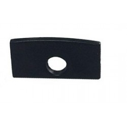 Tapa Final Negra salida cable para perfil anodizado PS611A, PS1611AN, PE2412A, PE2412AN