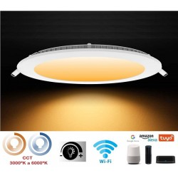 Downlight panel LED Redondo 240mm Blanco 20W SMART Wifi Regulable en luz y tonalidad
