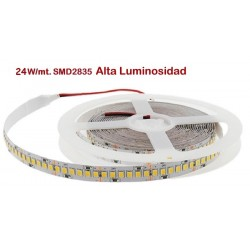 Tira LED 5 mts Flexible 120W 600 Led SMD 2835 IP20 Blanco Frío Alta Luminosidad