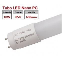 Tubo LED T8 600mm Nano PC Eco 10W, conexión 1 lado