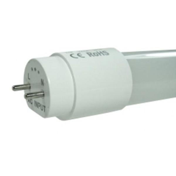 Tubo LED T8 600mm Cristal ECO 9W Blanco Frío, conexión 1 lado