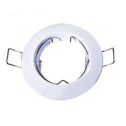 Foco fijo empotrar Ø 77mm Blanco, para Lámpara GU10/MR16