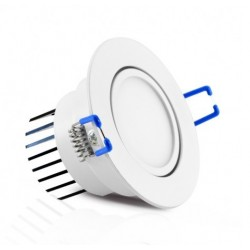 Foco Downlight LED Orientable Redondo empotrar Blanco Ø85mm 7W IP54