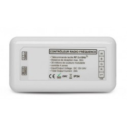 Controlador RGBW 12/24V RF 4 zonas
