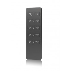 Mando RU4 para controlador tira LED Monocolor - RF 4 zonas 240-720W