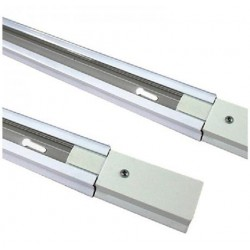 Carril monofásico 1 metro Blanco para foco LED