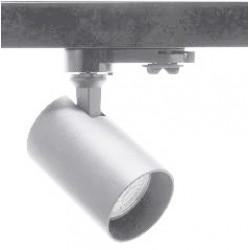 Foco Gris Carril trifasico LED, Lámpara GU10
