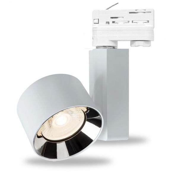 Foco Carril ELITE Trifásico LED COB 40W 23º Blanco CRI90