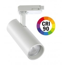 Foco Carril POLAR Trifásico LED COB Citizen 30W 60º Blanco CRI90