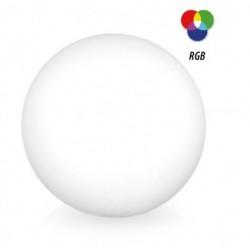 Esfera LED 25cm RGB Solar y bateria sin cables