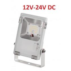Foco LED exterior PRO 12V-24V DC 10W IP65 Blanco