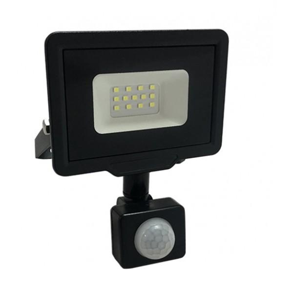 Foco Proyector LED exterior Slim Negro NEOLINE City 10W IP65 SMD con detector de Movimiento
