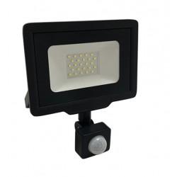 Foco Proyector LED exterior Slim  Negro NEOLINE City 20W IP65 SMD con detector de Movimiento