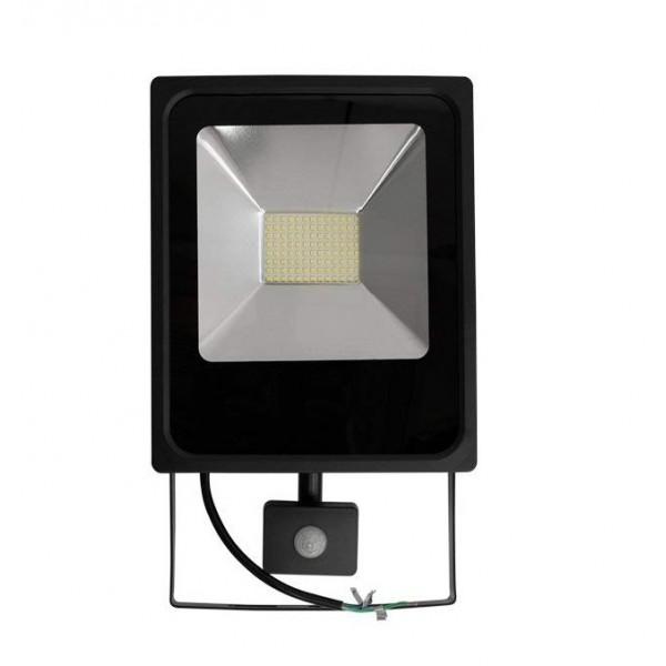 Foco LED exterior SLIM 50W IP-65 SMD con Detector de Movimiento