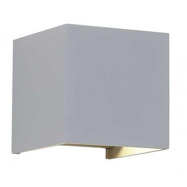 Aplique LED exterior IP54 superficie pared CUBIC 6W 660Lm Gris